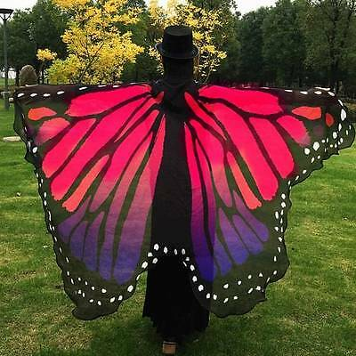 Butterfly Wing Cape Scarf Women-Red