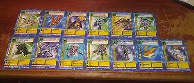 1999 Bandai Digimon Lot Of 13 Cards Used