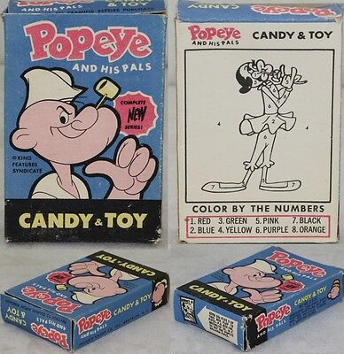 Popeye 1950s Phoenix Candy Box Color By Number Olive Oyl ORIGINAL