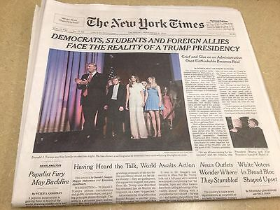 DONALD TRUMP Officially WINS ELECTED PRESIDENT THE NEW YORK TIMES 11-10-2016