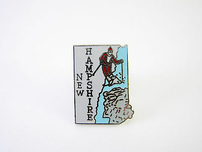 Vintage New Hampshire Skiing Travel Souvenir Pin