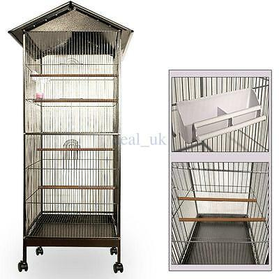 Bird Cage Aviary Metal Budgie Parrot Birds House Birdcages Steel Large