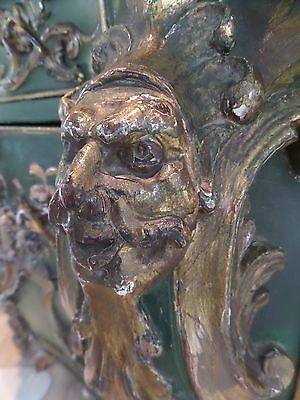 LGE Antique 18th Century Carved Italian French Grotto Chest Bombe Commode Masked