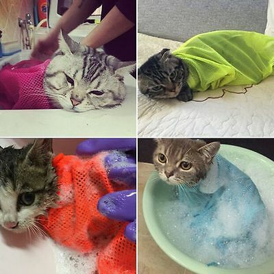 Pet Cat Mesh Grooming Restraint Bag For Washing Bath Nails Cutting Cleaning Bag