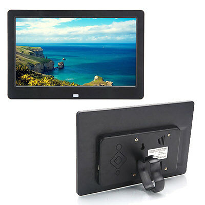 """Perfect 10"""" inch HD TFT Digital Photo Frame MP4 Player with Remote Control Black"""