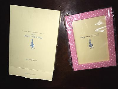 Pottery Barn Kids Pink Polka Dot Frame 5x7 opening NEW in BOX