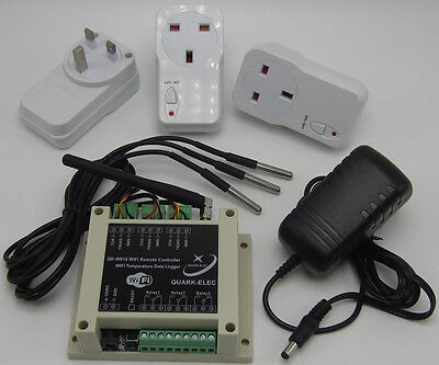 WiFi Temperature Data Logger & Remote Controllor With RF Power Sockets-UK seller