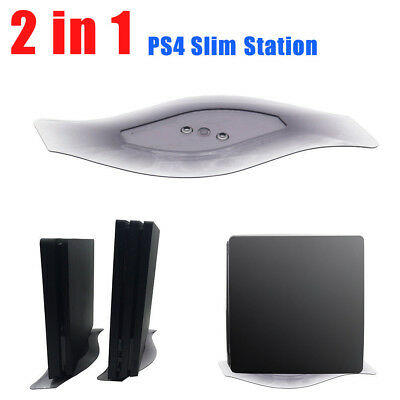 NEW 2 in 1 Vertical  Bracket Stand Holder for PS4 Slim PS4 Pro Accesories