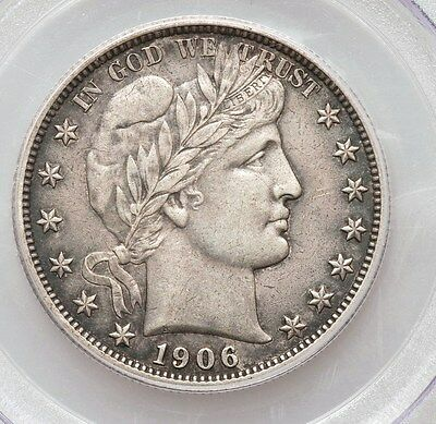 1906-D Barber Half PCGS XF45 Silver Half Dollar Extremly Fine Type Coin Looks AU