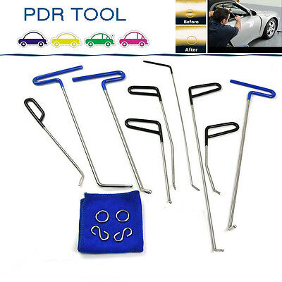 9PCS PDR Rods Dent Repair Removal Tool set Perfect for Door Dings Hail Repair