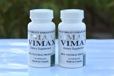 2 VIMAX Pills Semen MALE Enhancer INCREASE PENIS SIZE Volume Authentic Code