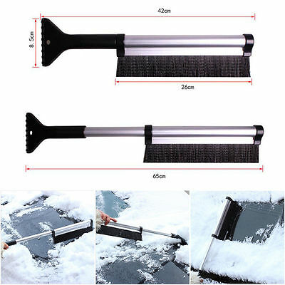 2 in 1 Retractable Winter Car Ice Scraper Snow Brush Shovel Removal Squeegee New