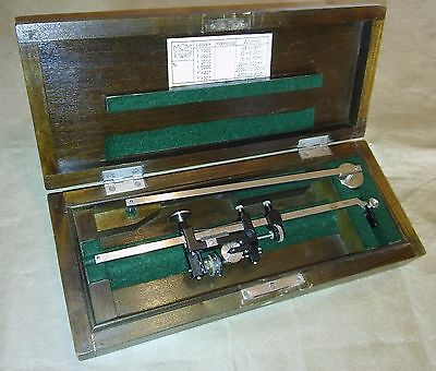 Vintage 1962s Planimeter Engineering Tool, Tripod, MOM BUDAPEST with case