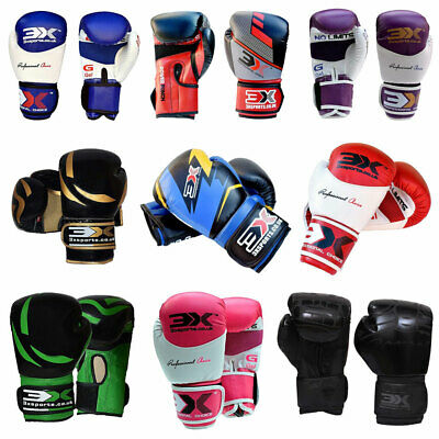3XSports Boxing Gloves KickBoxing Thai Sparring Punch Bag Training Mitts Fight