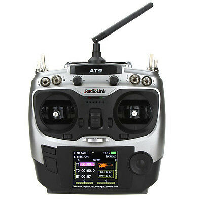 07S8 RadioLink AT-9 2.4G 9CH Transmitter with R9DS 9CH Receiver for RC Helicopt