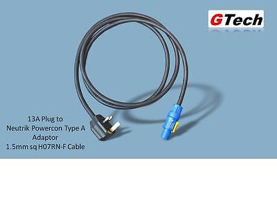 13A Plug to Neutrik Powercon Type A - 1.5mm H07RN-F Cable -  EVENT/STAGE