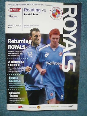 08/09 - READING v IPSWICH TOWN - CHAMPIONSHIP - EXC