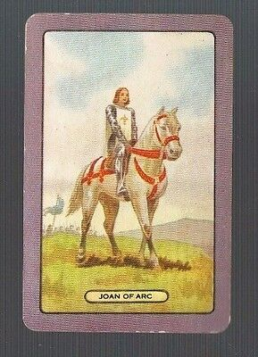 Playing Swap Cards 1 Single  Coles   NAMED    JOAN OF ARC  #491
