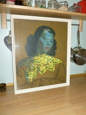 Original Tretchikoff print in original frame with label The Chinese Girl