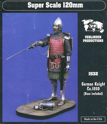 Verlinden 120mm 1//16 Anglican Warlord in Full Chainmail Armor ca.7th Century 980