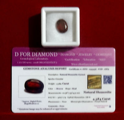 4.384 Ct Excellent Natural Hessonite New Loose Gemstone Lab Certified