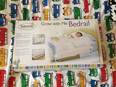 BNIB SUMMER INFANT Grow with me bed rail/bed guard -WHITE