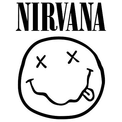 p735 - Nirvana Grupo de Musica Pegatina Decals Vinilo Sticker Adhesivo Pared