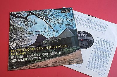 SXL 6405 Britten Conducts English Music for Strings ECO DECCA UK WB 1st STEREO
