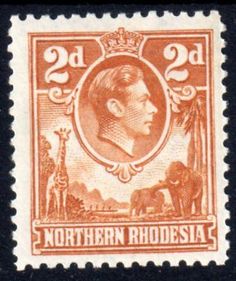 NORTHERN RHODESIA 1938 Sg31 2d Yellow-brown P.O. Fresh mint never hinged