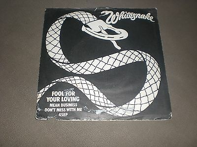 Ep Whitesnake - Fool For Your Loving + 2 - United Artists Uk 1980 Vg/vg+