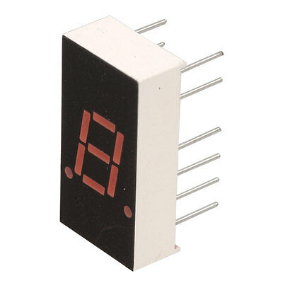 Mcd Electronics GNS-3011BH-11 Display 7-Segment Common Anode Red 1 Digit  10 pcs