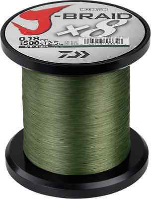 Daiwa X8 J Braid 1500M Dark Green