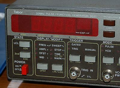 Tabor 8021 20 MHz Pulse Function Generator WORKING