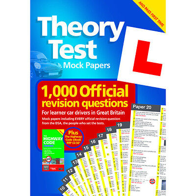 Theory Test Book Mock Test Papers 2016 Car Drivers DSA