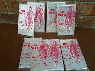 8 Vintage Amoco Gasoline Promo Rain Cape Coverall Free Giveaway NEW OLD STOCK