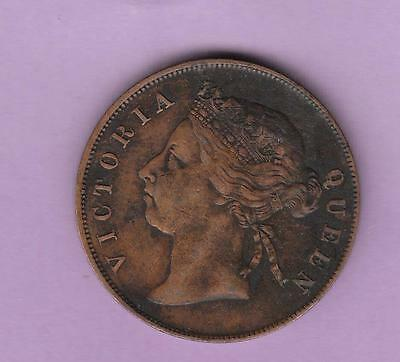 1884 Straits Settlement one Cent w/ Queen Victoria- see photos inv #6818