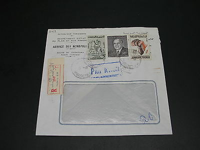 Tunisia 1964 registered airmail cover to Finland *8421