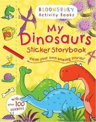 NEW BLOOMSBURY - MY DINOSAURS STICKER STORYBOOK over 150 stickers-F011