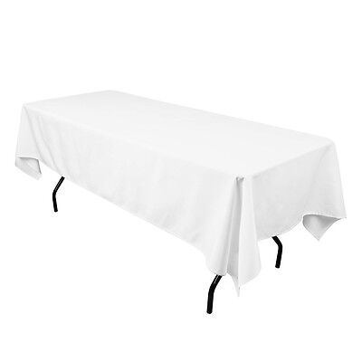 Polyester  Fabric Tablecloth 20 Colours 10 sizes 100% Round Square Rectangle