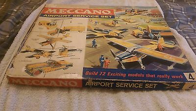 VINTAGE MECCANO - AIRPORT SERVICE SET - No 4 - WITH BOOKS - GOOD CONDITION
