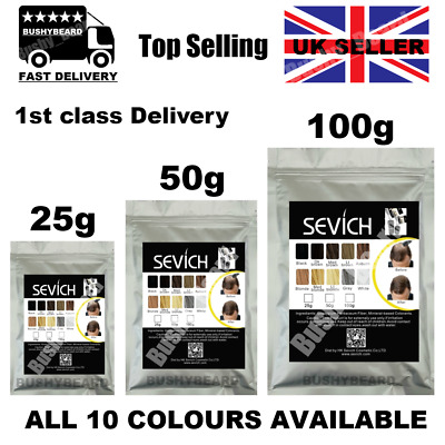Sevich Keratin Thicker Hair Building Fiber Refill Packs 25 50 100g Natural UK