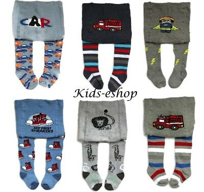 BABY BOYS COTTON TERRY THICK WINTER TIGHTS LEG WARMERS SOCKS PANTS 6-12-24 Month