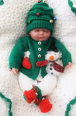 Mimsy*New 0-3mths*Reborn*Christmas Baby Layette*Handmade Pram Outfit & Shawl Set