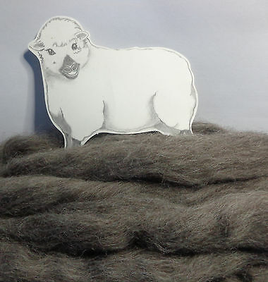 NATURAL GREY FINNISH wool tops / roving / needle felting wool / fibre 50g