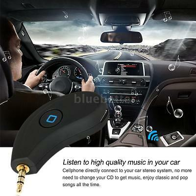 new Car Hands-Free Audio Receiver Bluetooth Wireless Control 3.5mm Output J8B9