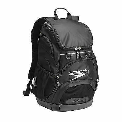 New Speedo Teamster Backpack 35L - Black Swimming Bag Rucksack Gym Kit Rucksack