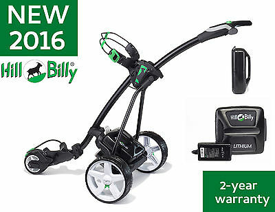 NEW 2016 HILL BILLY TROLLEY GREEN WITH LITHIUM BATTERY & £49 of FREE ACCESSORIES