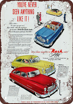1950 Nash Airflyte Vintage Look Reproduction Metal Sign