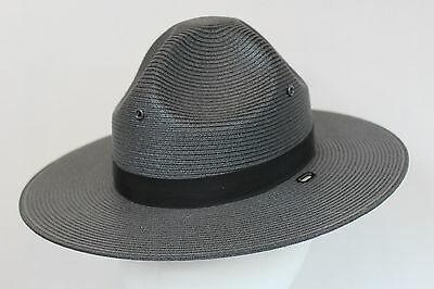 Stratton Self Forming Ranger Trooper Hat 6 5-8 Straw State Police Drill Military