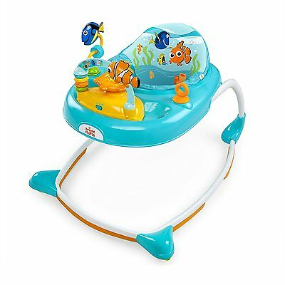 Disney Baby Finding Nemo Sea and Play Walker Seat in Blue with Music & Toys, New